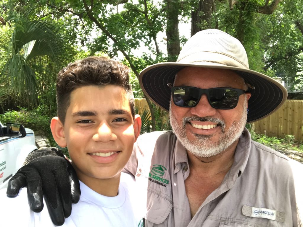Our founder Jose Luis Blandon, B.Sc.(Agr.) with his son.