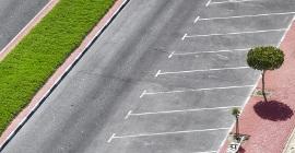 A clean parking lot